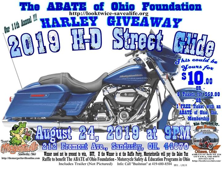 The ABATE of Ohio Foundation 11th Annual Harley Giveaway